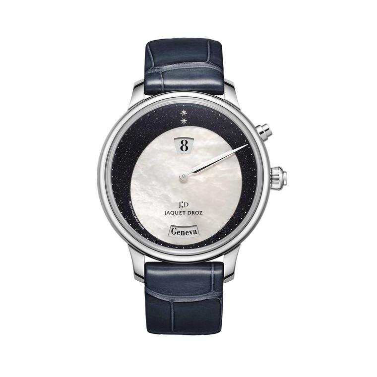 Jaquet Droz Twelve Cities Aventurine mother-of-pearl watch