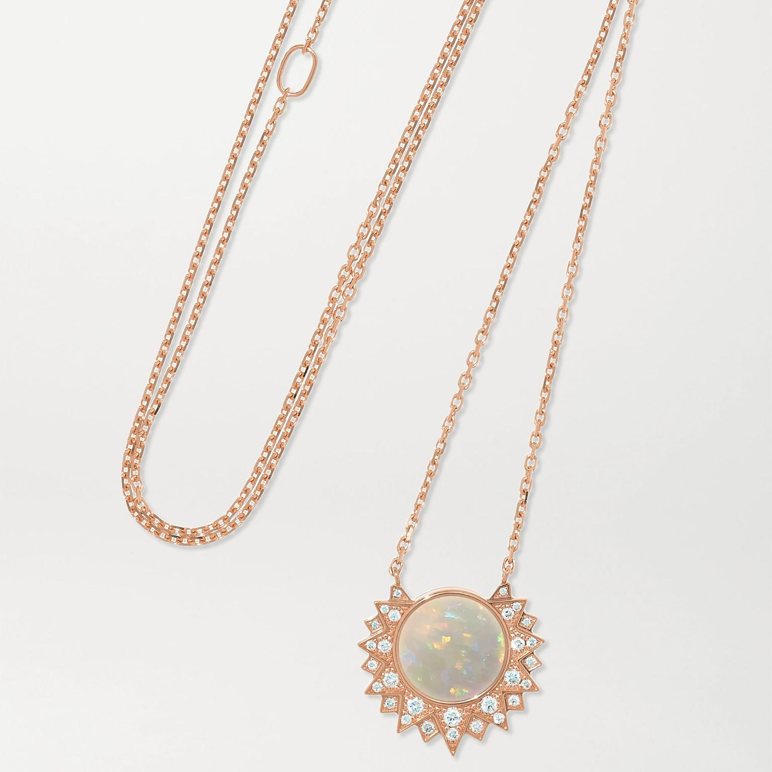 Sunlight opal necklace by Piaget