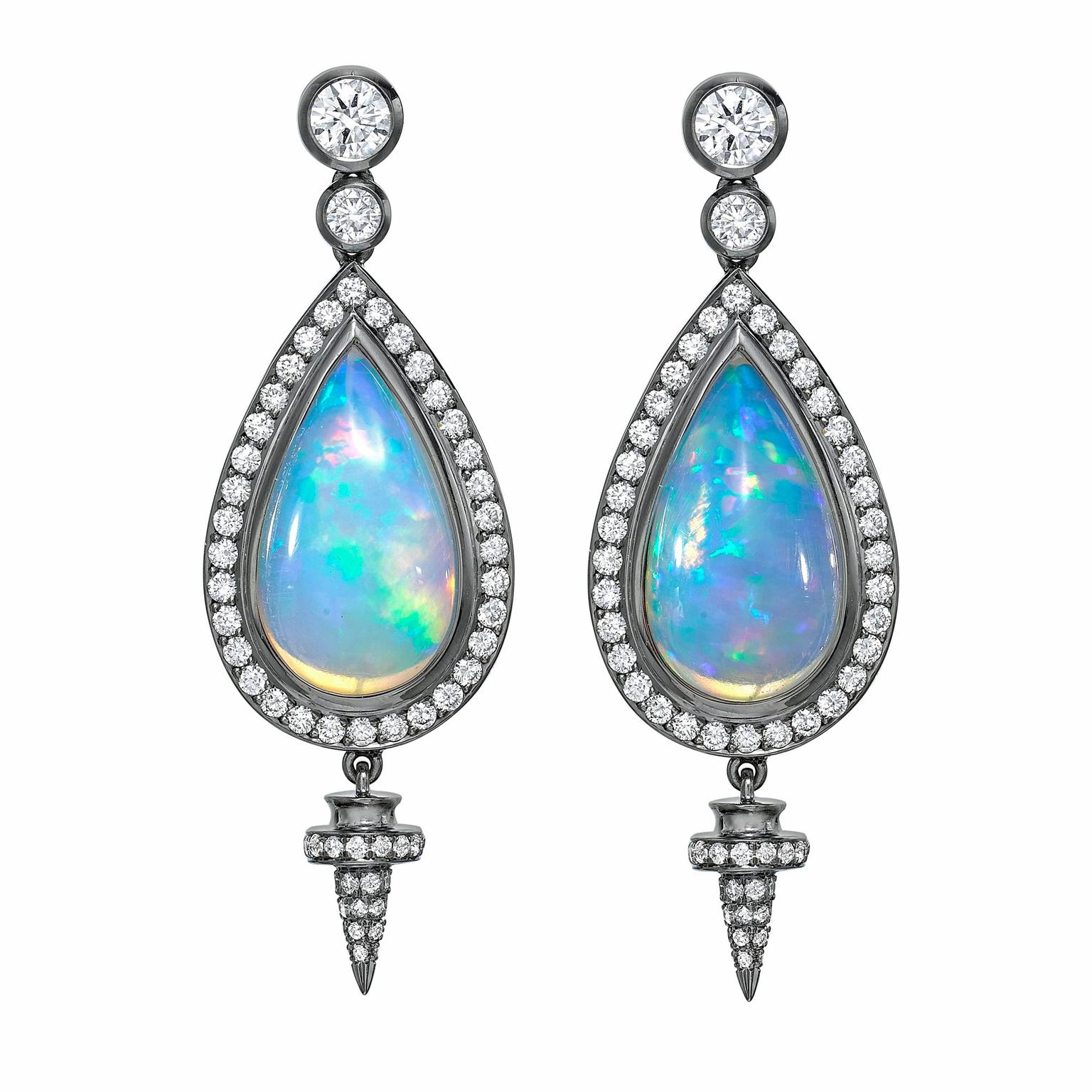 Theo Fennell opal earrings