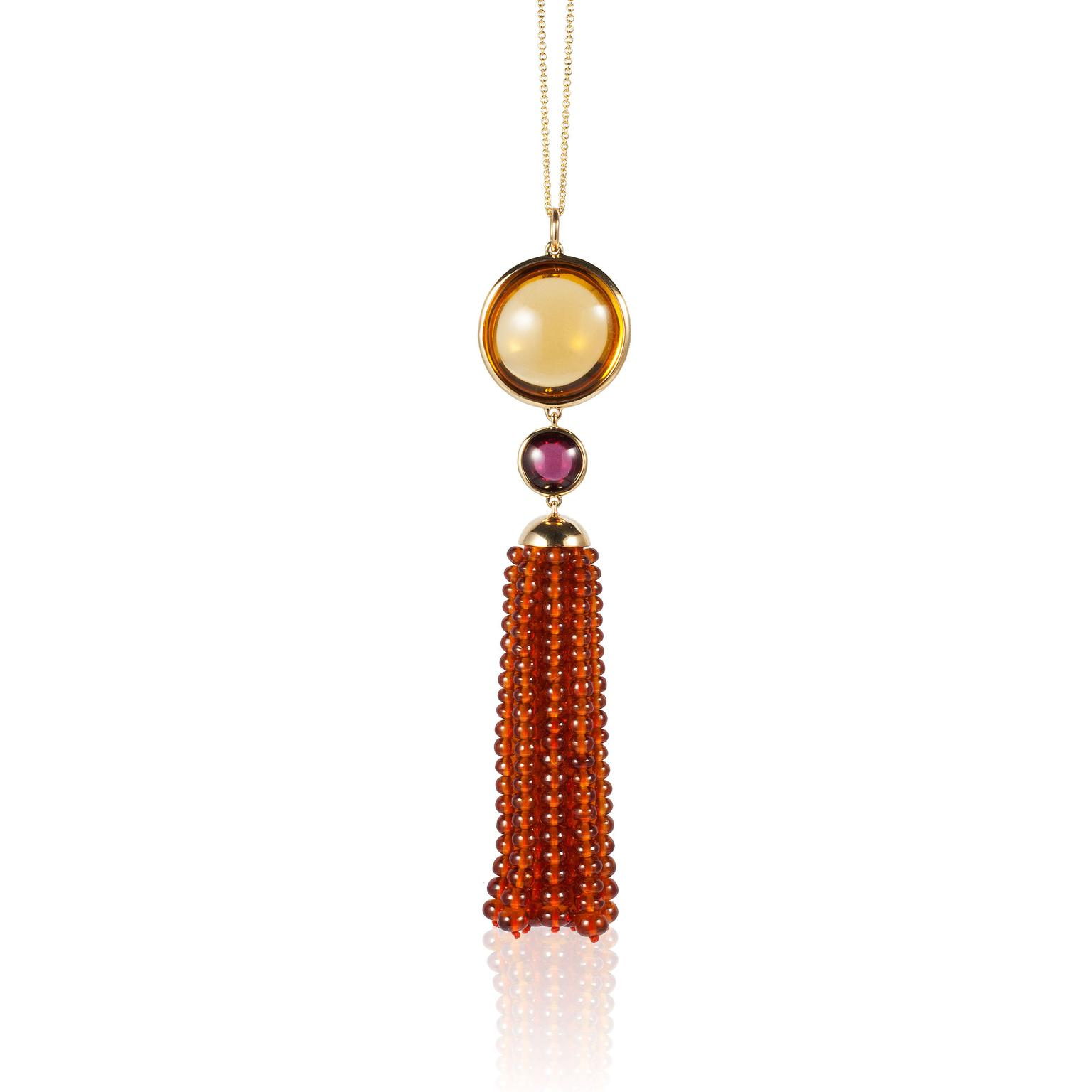 Goshwara Naughty Citrine Drop & Garnet Cabochon Earrings 1uS6YTvi5