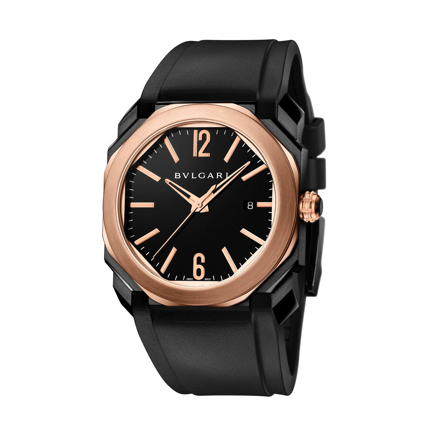 Bulgari Octo Ultranero Solotempo watch
