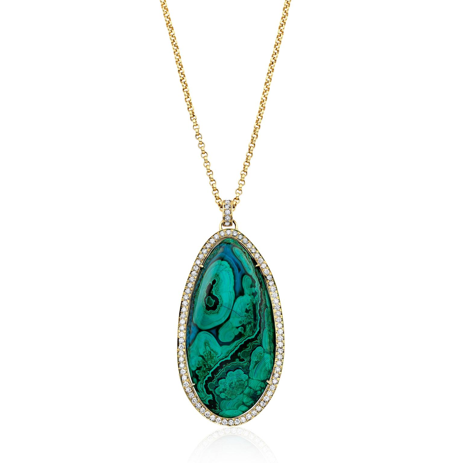 Kimberly McDonald azurite malachite pendant