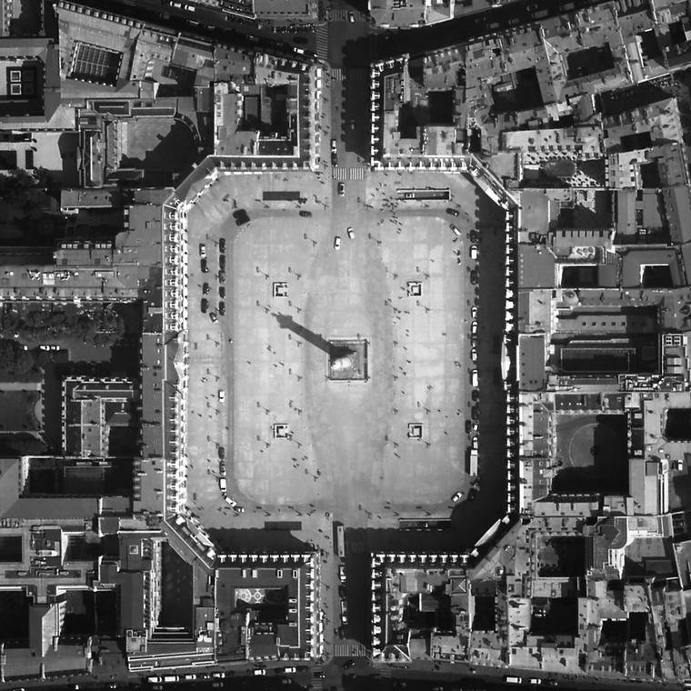 Aerial view of Place Vendome