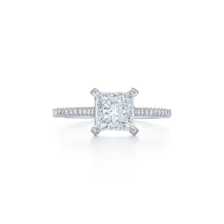 Kwiat 1.52ct princess-cut engagement ring