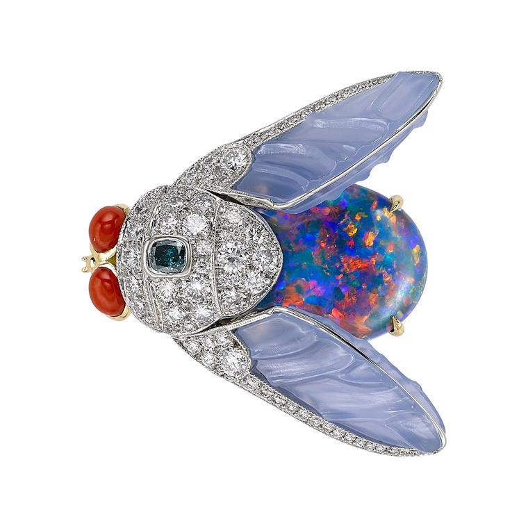 Masterpiece Summer Bug opal brooch