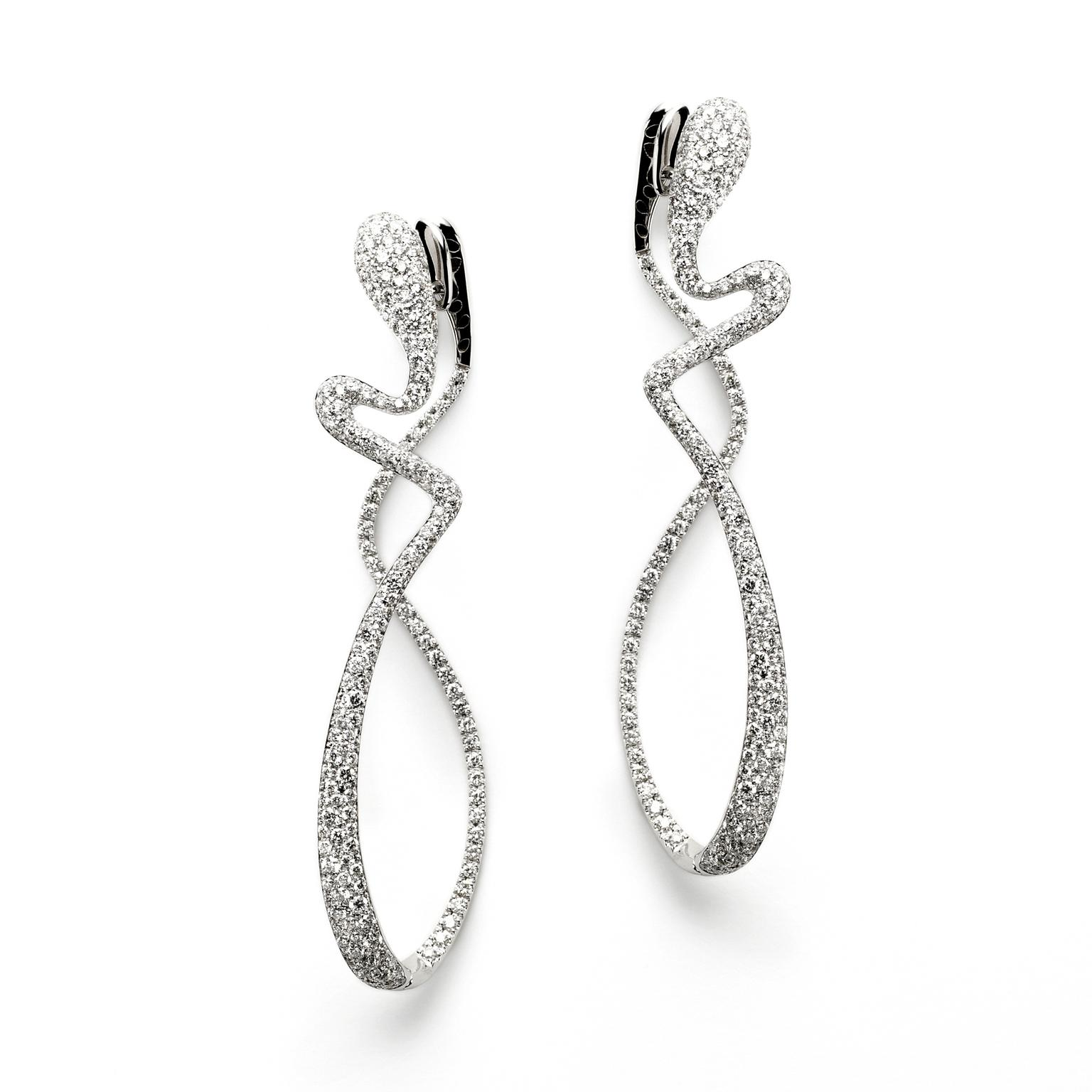 White gold and diamond Aurea earrings Antonini