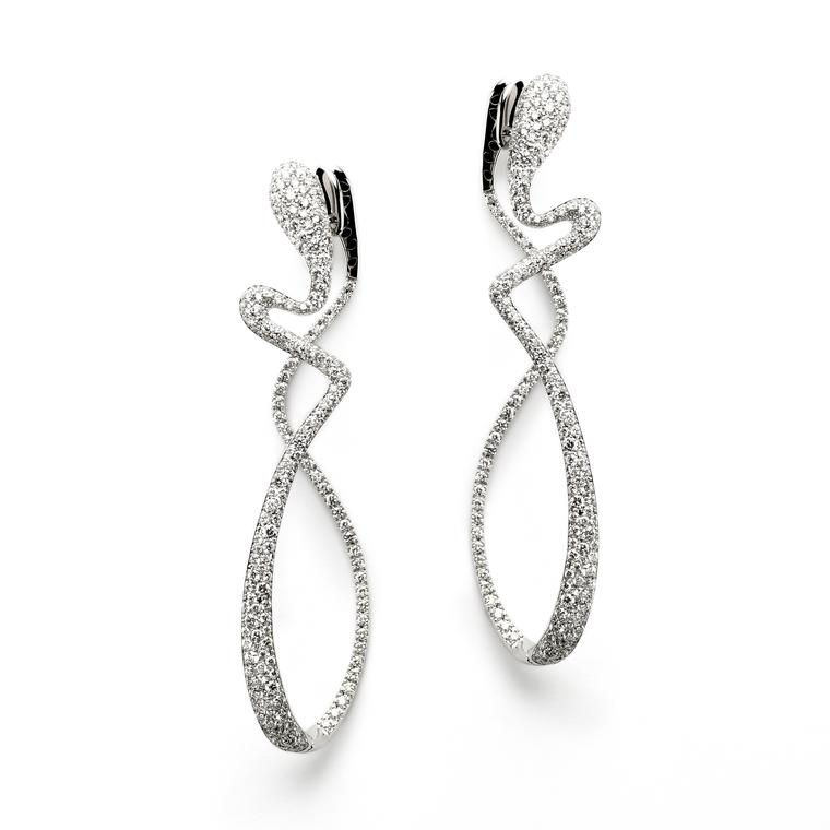 Antonini white gold and diamond Aurea earrings