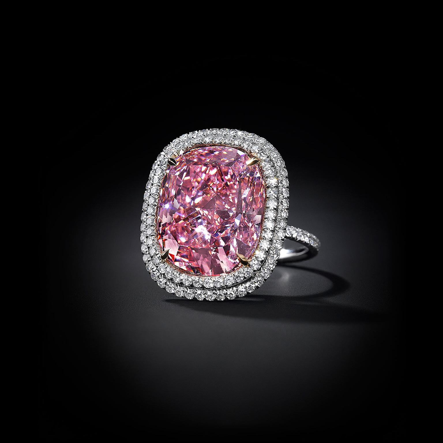 Pink Diamond Engagement Ring For Sale