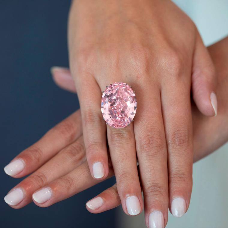 The 59.60-carat Pink Star diamond is the world's most expensive gemstone sold for $71.2 m