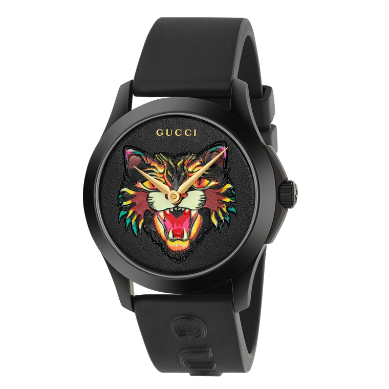 Gucci G-Timeless watch with cat dial