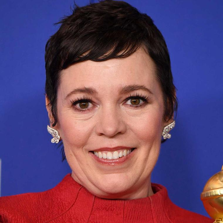 Olivia Coleman Golden Globes Chopard jewels