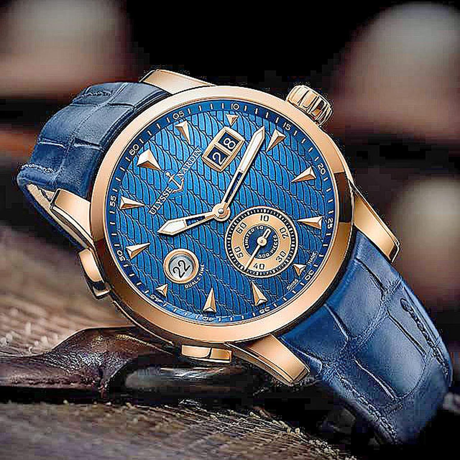 Ulysee Nardin Dual Time manufacture watch