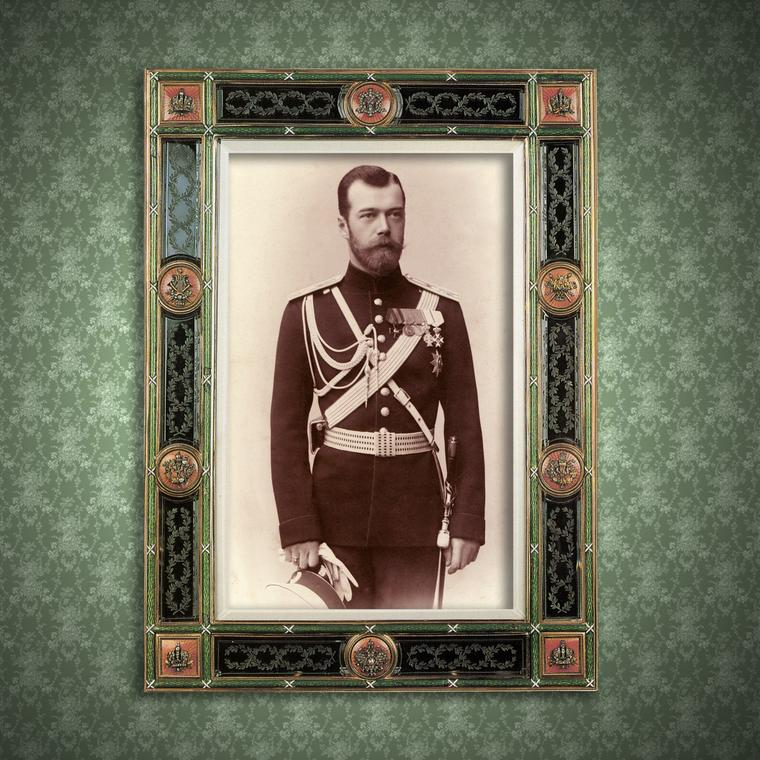 Tsar Nicholas ll of Russia in Faberge frame