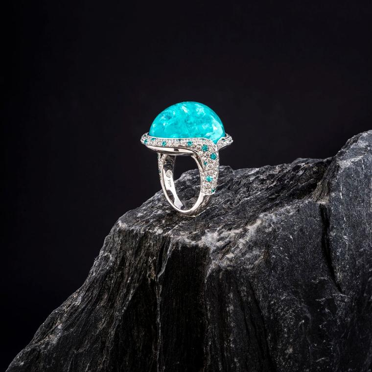 Doris Hangartner Paraiba tourmaline ring