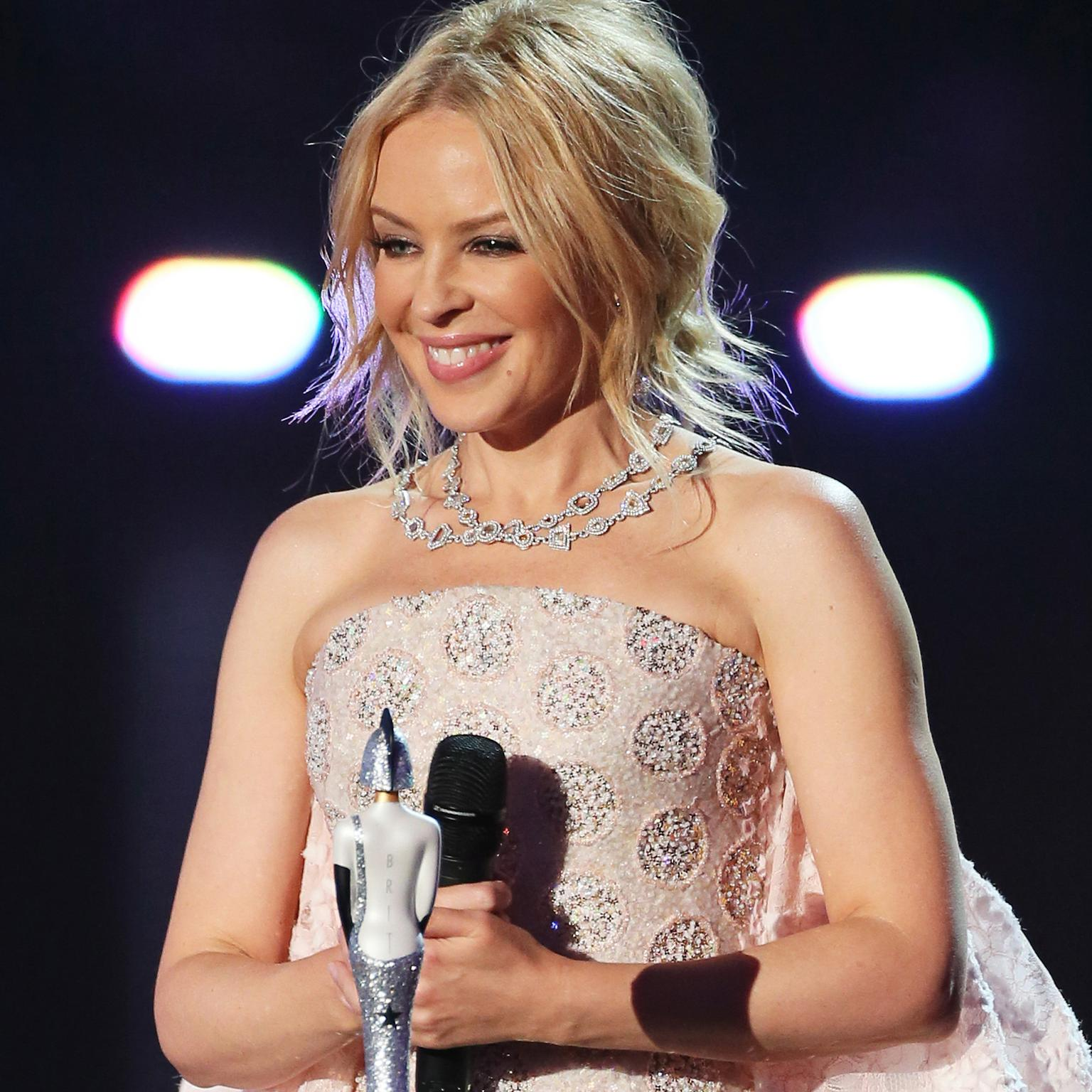 Red carpet jewellery Kylie Minogue Chopard