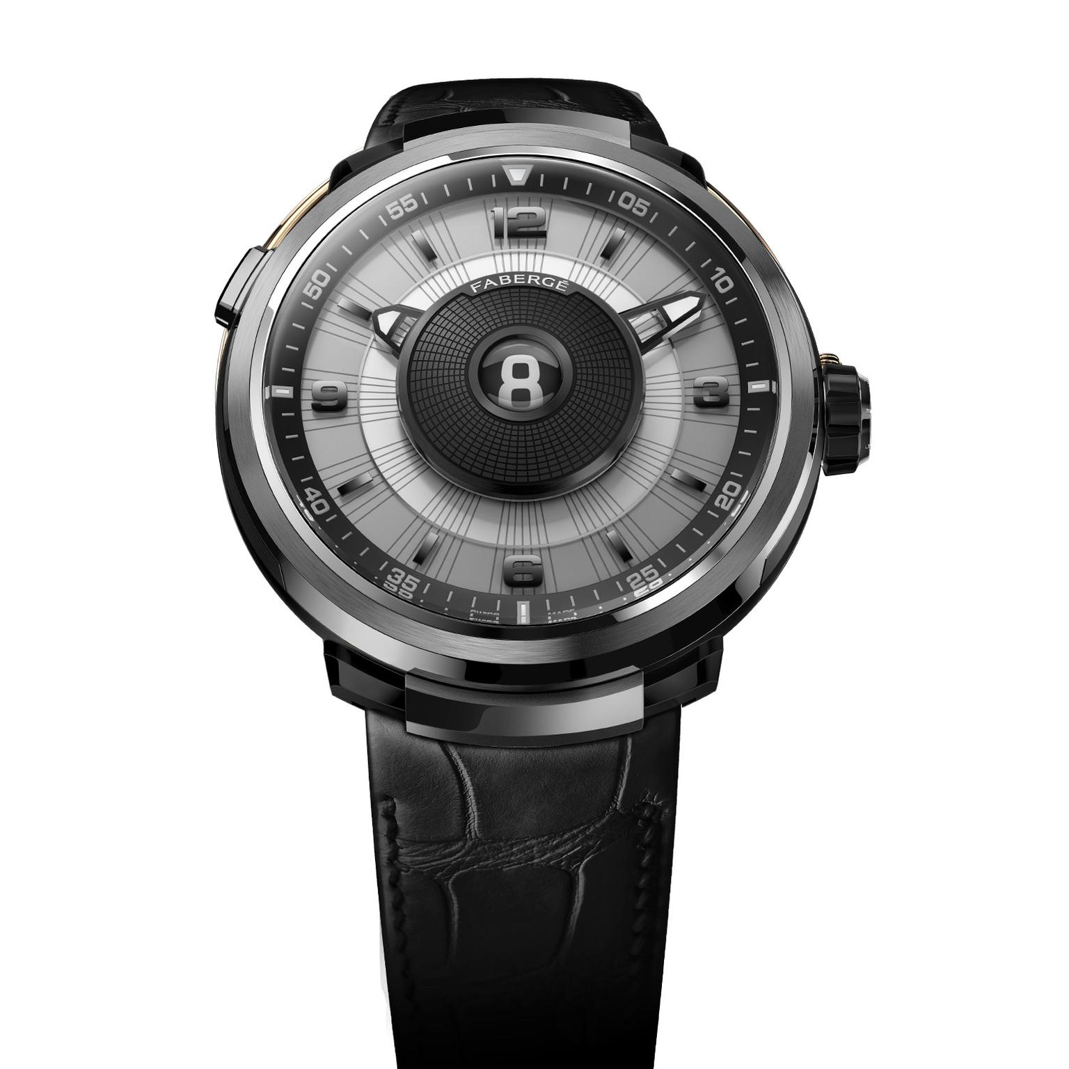 Fabergé Visionnaire DTZ watch in white gold