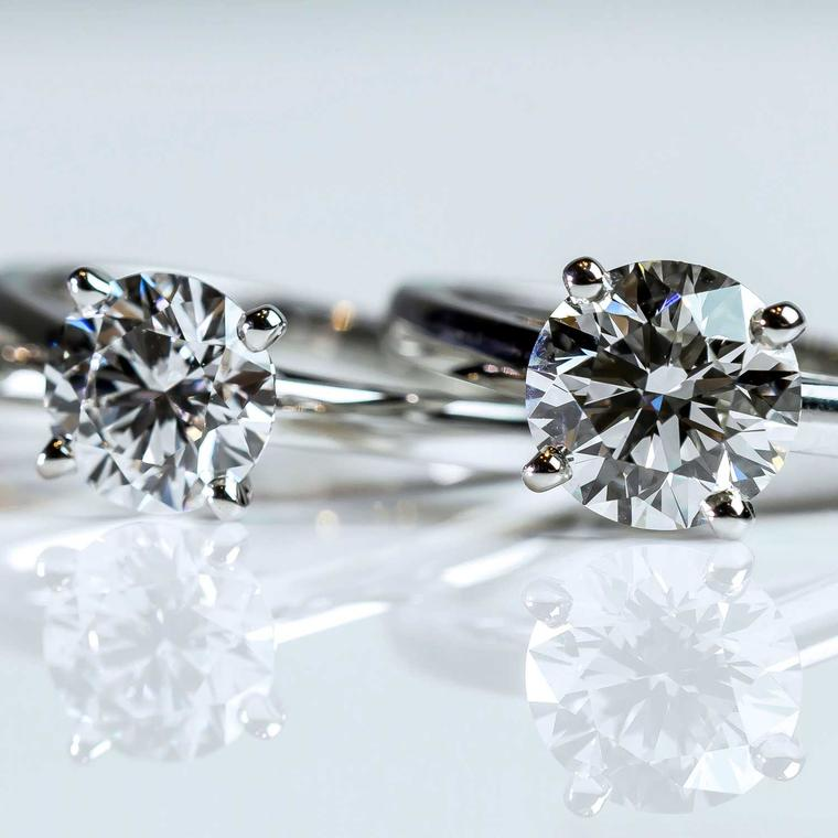 De Beers 4 carat and 6 carat diamond engagement rings