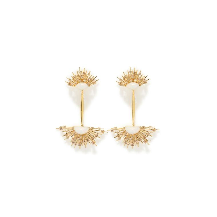 Maiyet Starburst opal earrings in gold