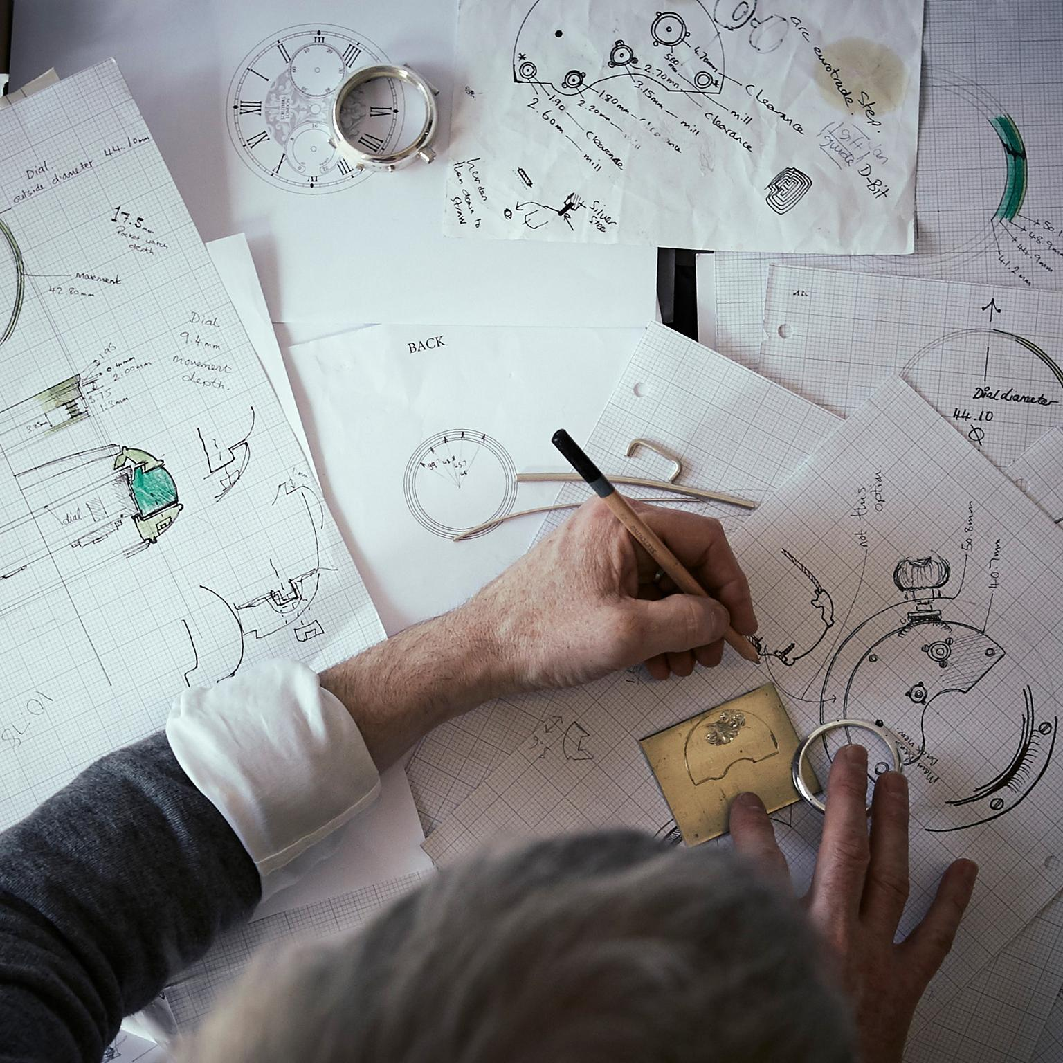 Craig Struthers designing a bespoke watch