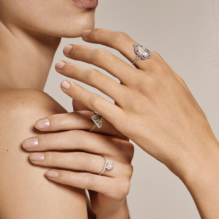 Monique Péan Mineraux Campaign diamond ring