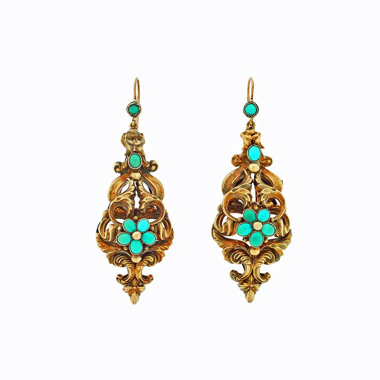A. Brandt + Son repoussé antique earrings
