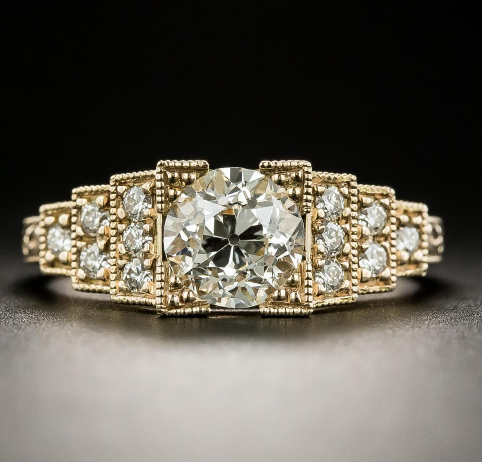 Diamond engagement ring sold by Lang Antiques