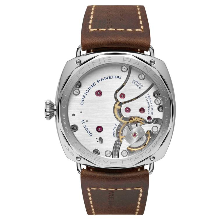 Panerai Radiomir 3 Days Acciaio limited edition watch movement