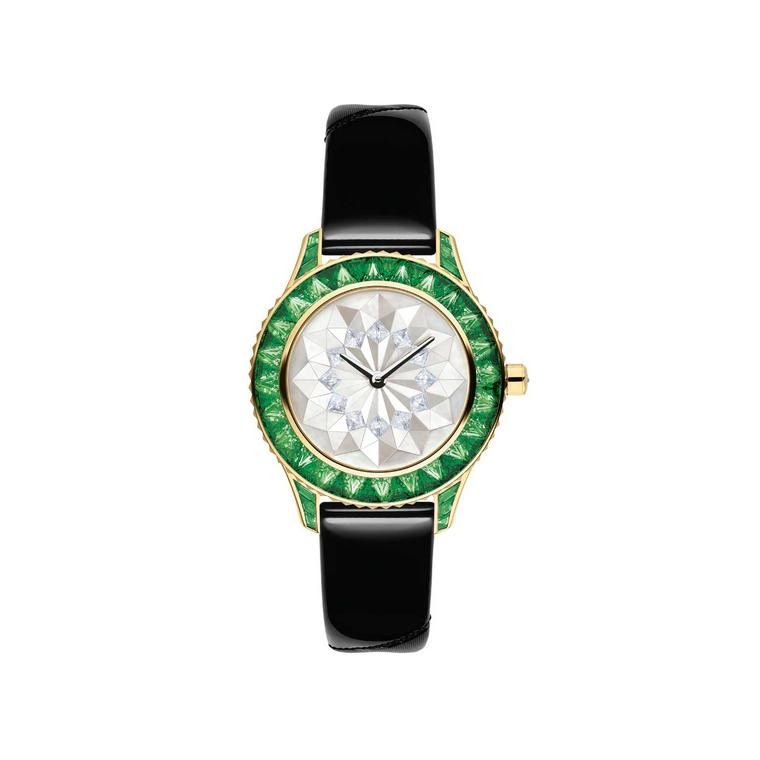 Dior Grand Soir Origami watch with tsavorites