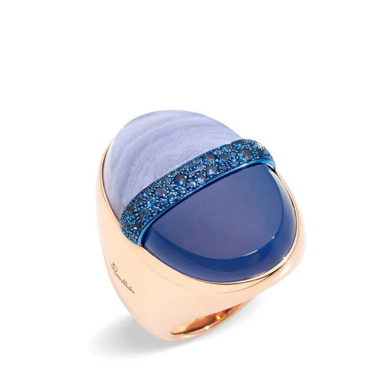 Pomellato Armonie Minerali Blue Angel ring