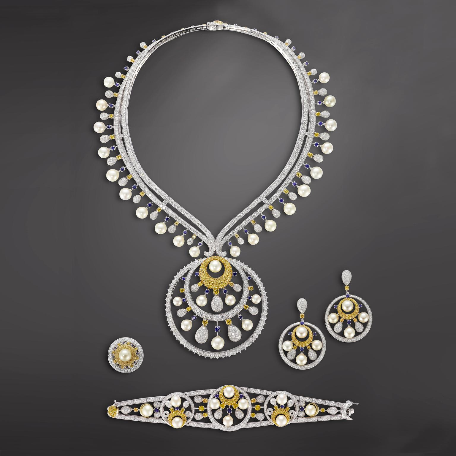 Mouawad Lunar Pearl Suite with Arabian pearls