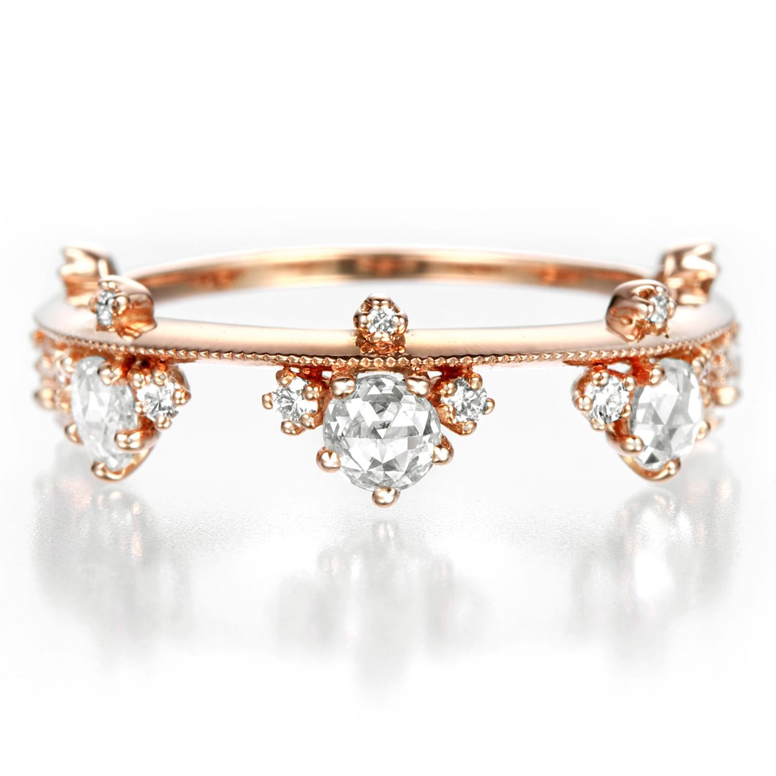 Kataoka Diamond Crown engagement ring