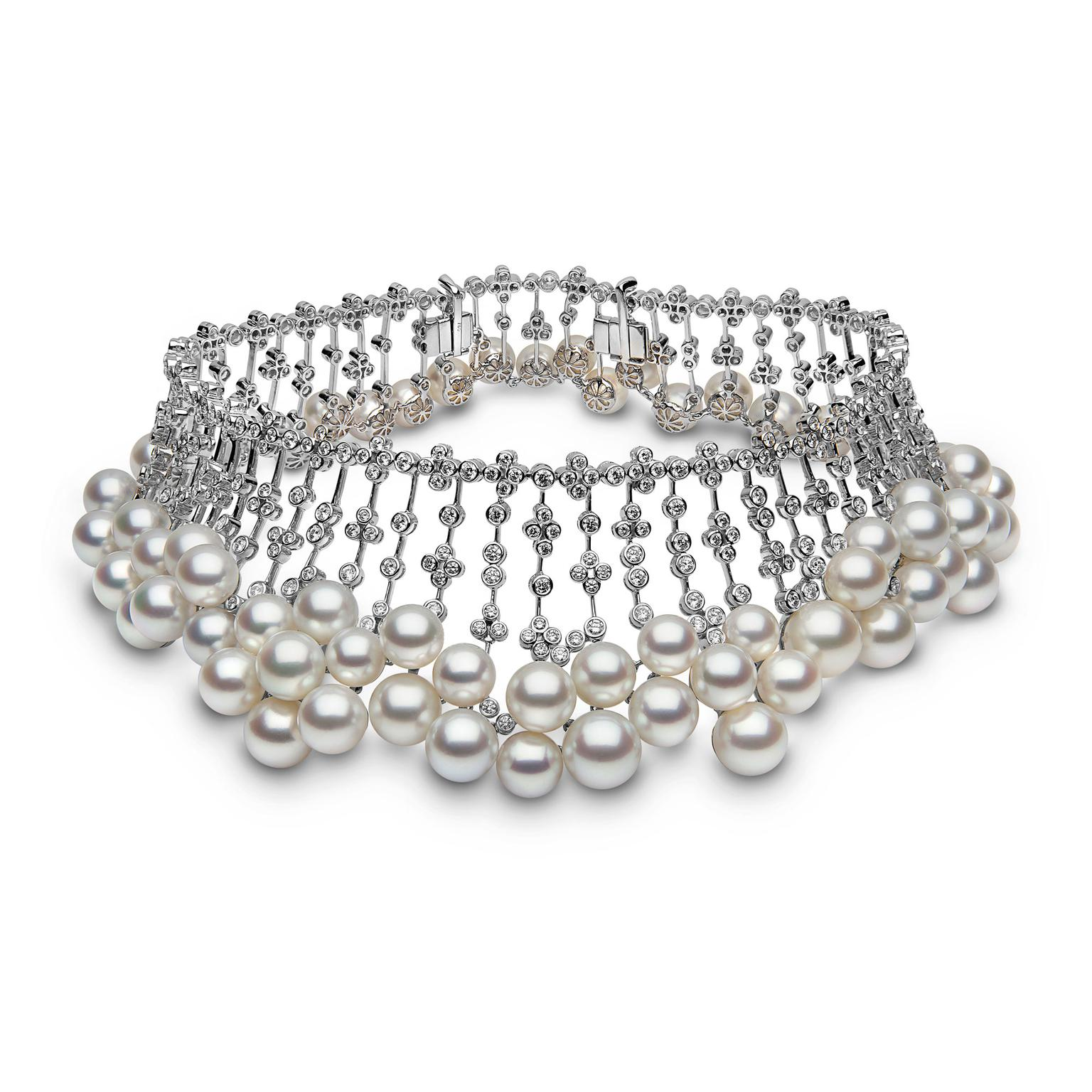 YOKO London South Sea pearl and diamond collar