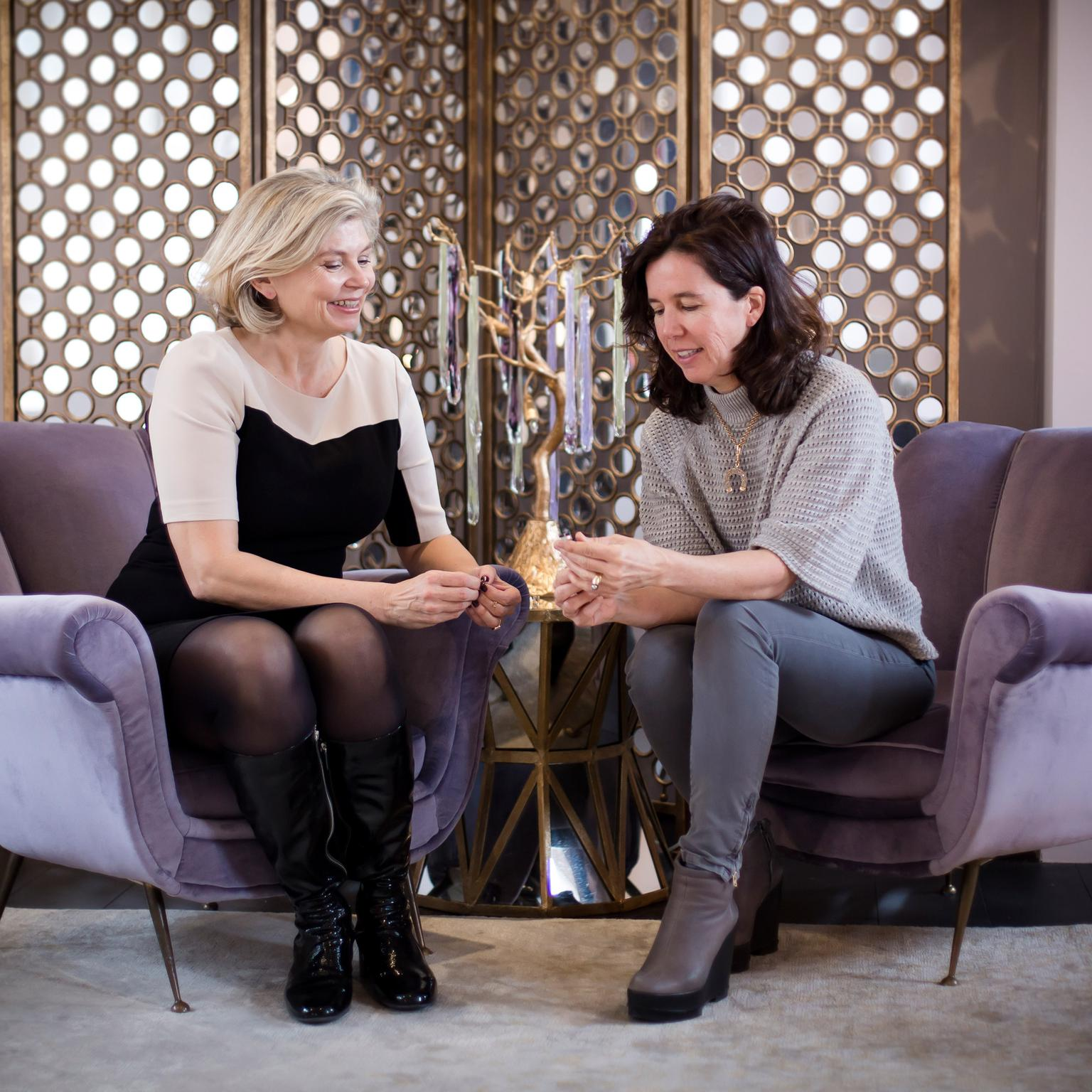 Maria Doulton and Christine Pasquier at Louis Vuitton Paris