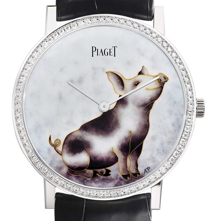 Piaget Altiplano Chinese New Year Pig watch close up