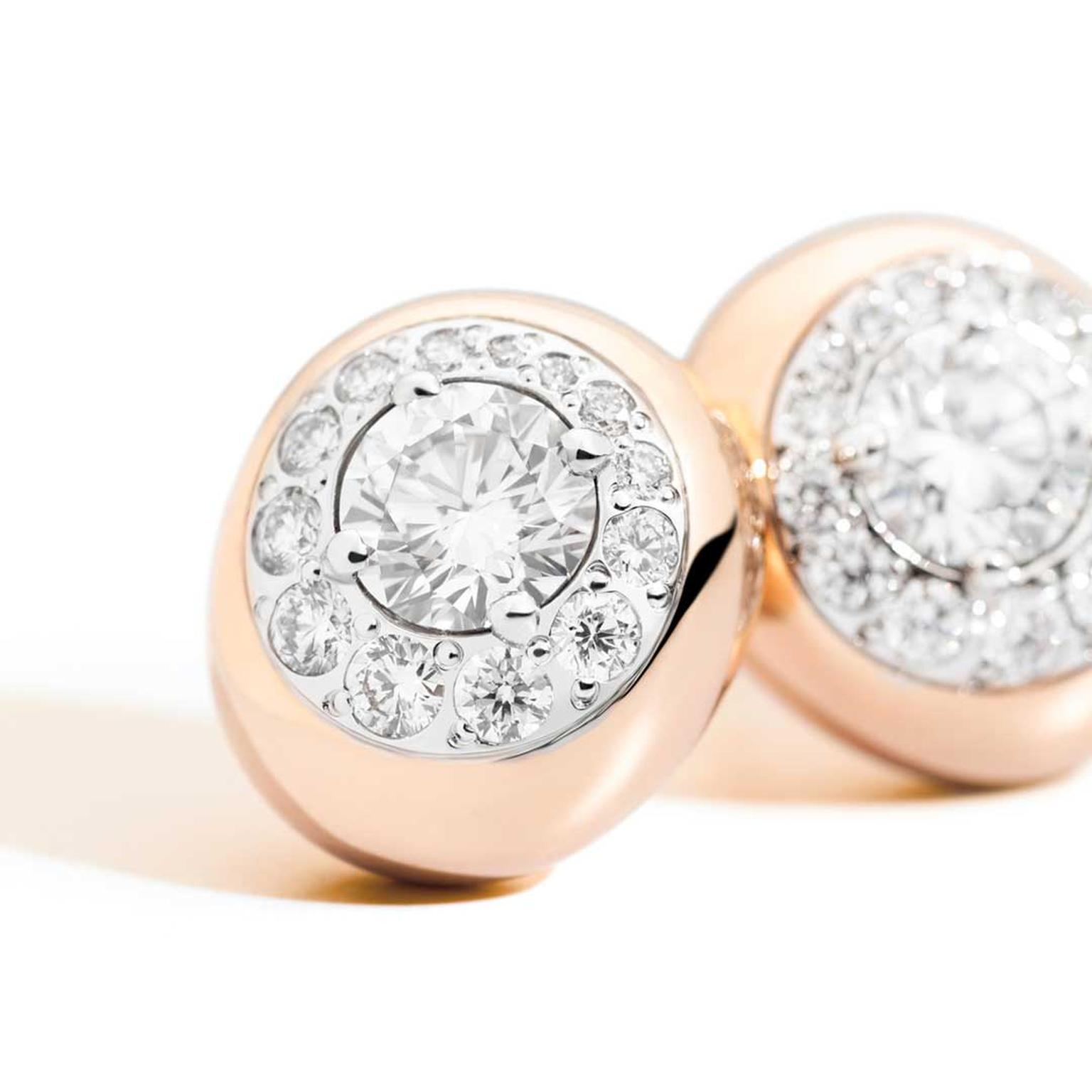 Pomellato Nuvola rose gold diamond earrings