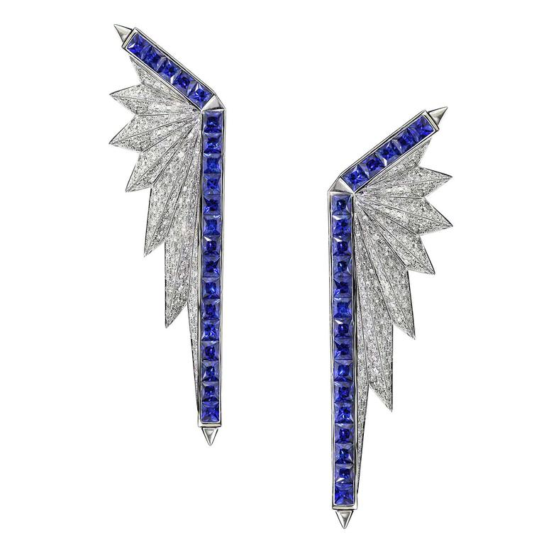Melville Fine Jewellery_E_Rising Sun collection - Spectrum earring in diamond & sapphire