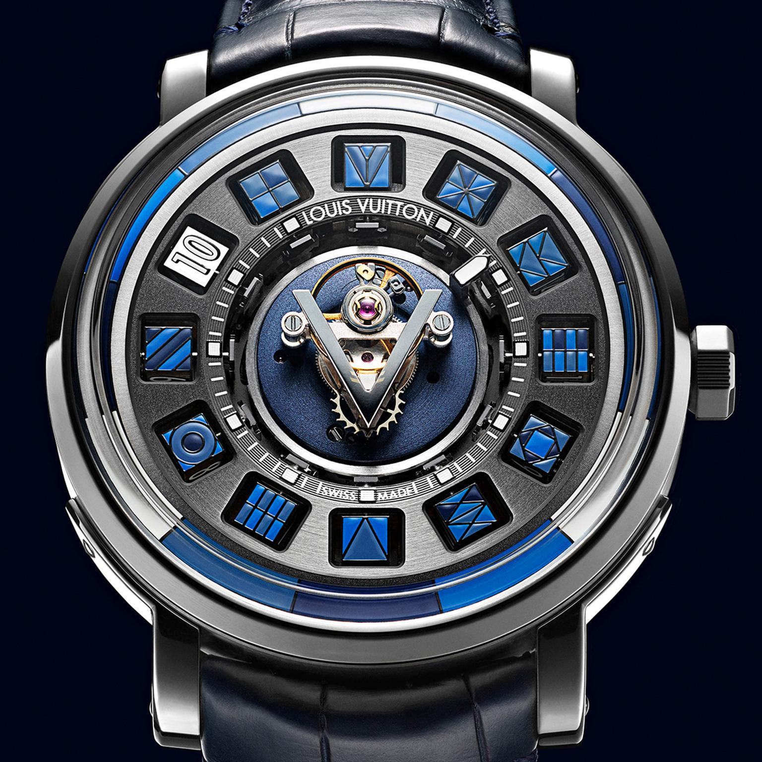 Louis Vuitton Escale Spin Time Tourbillon Central Blue watch