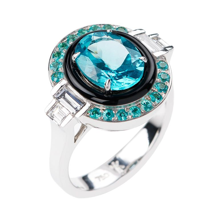 Yesterday collection apatite ring