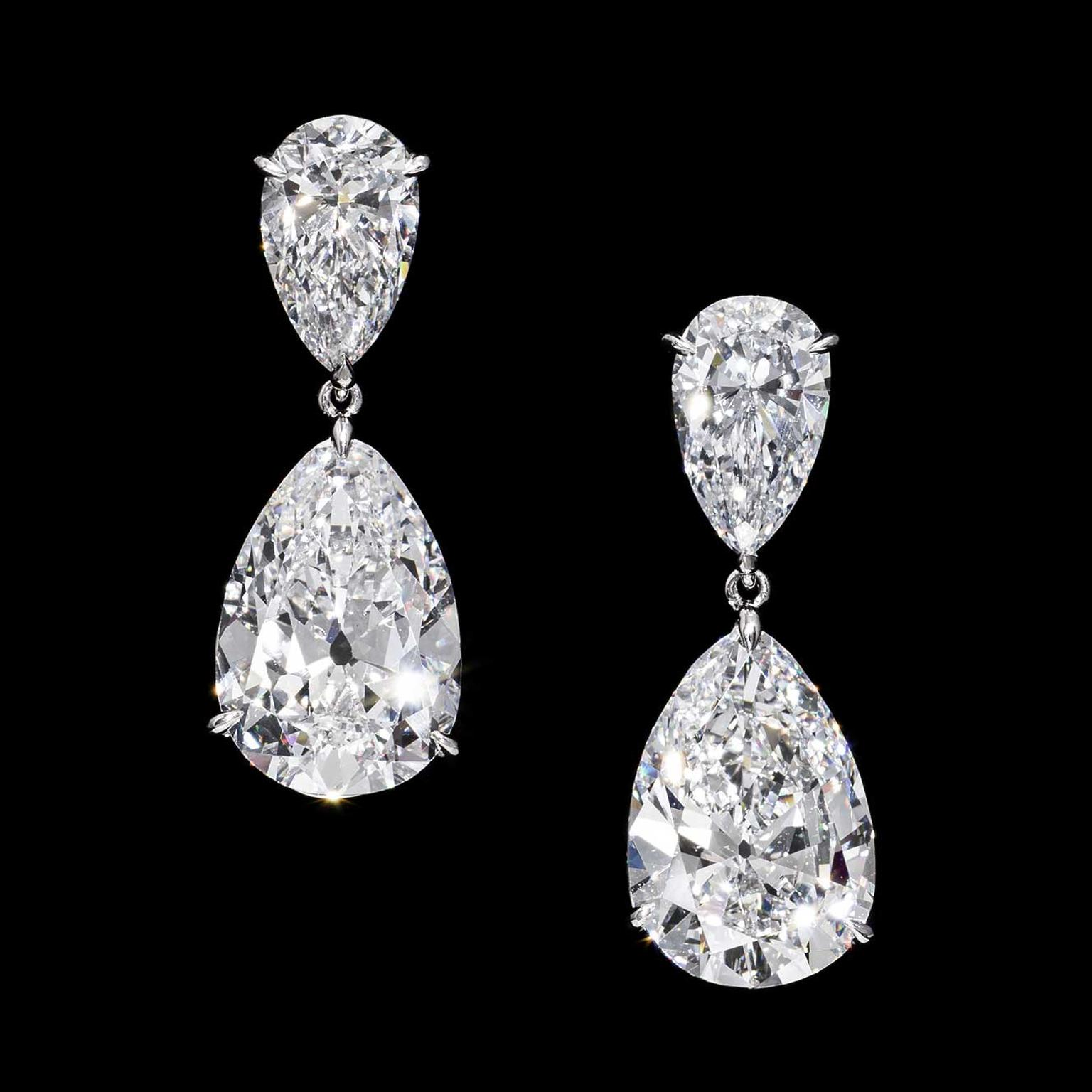 Jahan pear-shape diamond earrings
