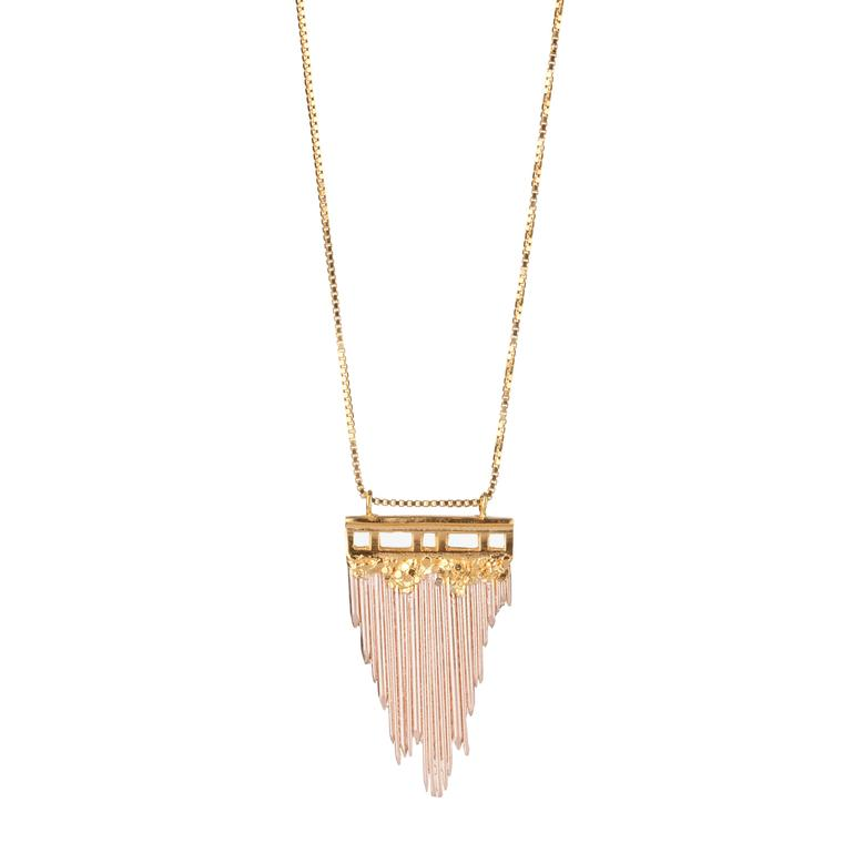 Ros Millar yellow and rose gold-plated silver necklace