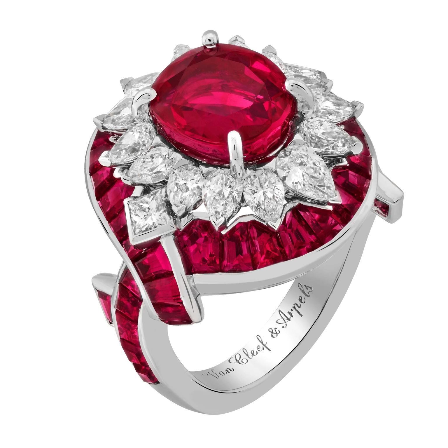Van Cleef & Arpels Filtro d'Amore ring Romeo and Juliet jewels