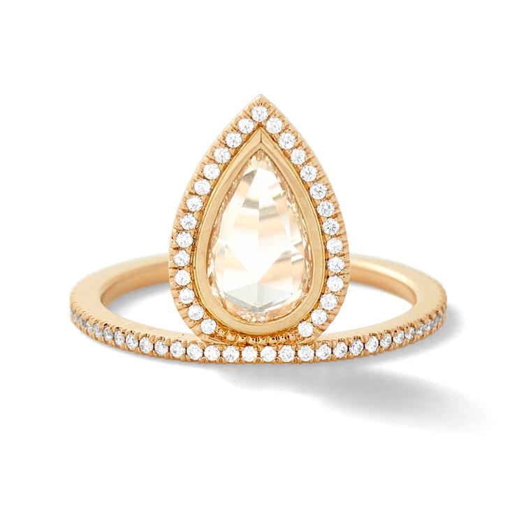 Gatsby diamond ring in gold