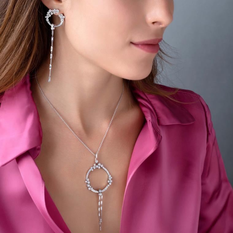 STENZHORN UNA diamond necklace earring