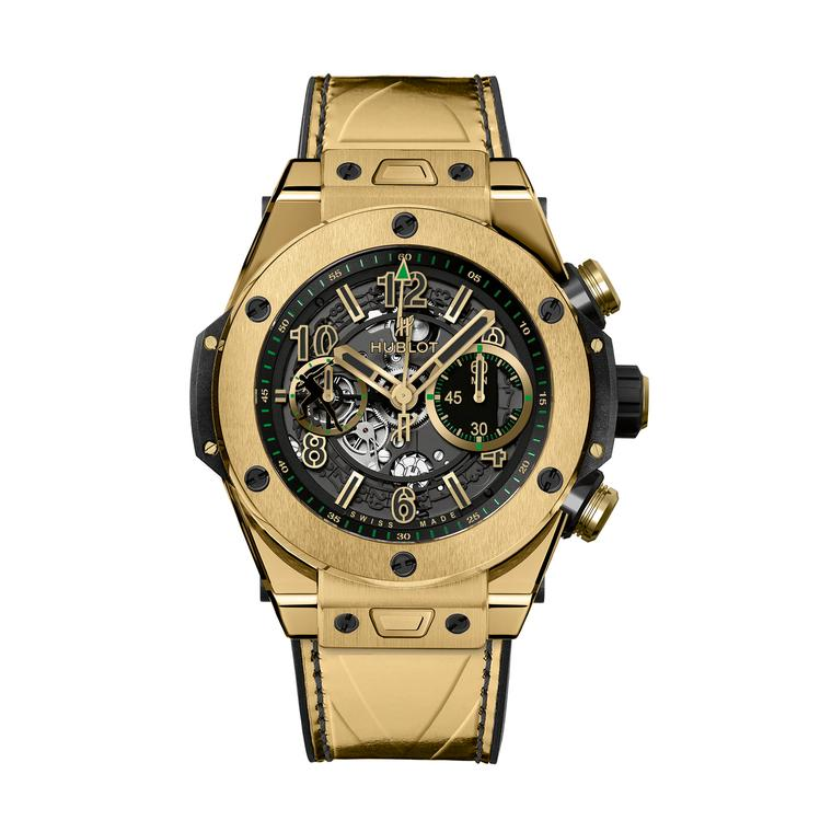 Big Bang Unico Usain Bolt yellow gold watch
