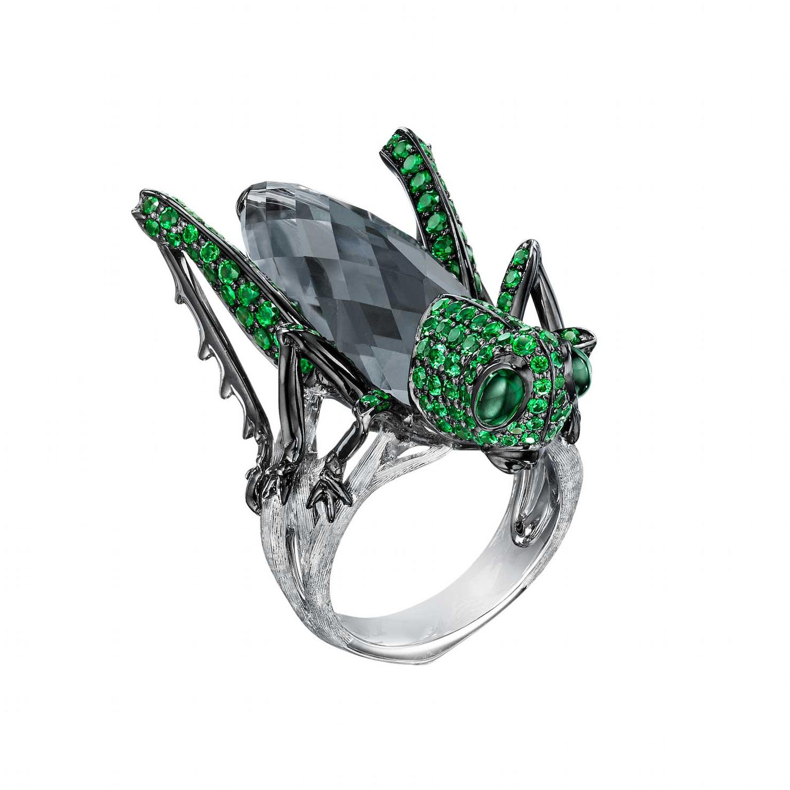 Stephen Webster Fly by Night Grasshopper ring