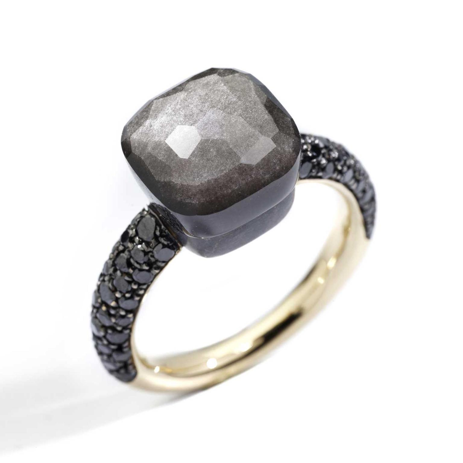 Nudo Classic ring with obsidian Pomellato