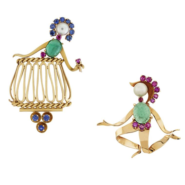 Van Cleef & Arpels 1951 Romeo and Juliet brooches