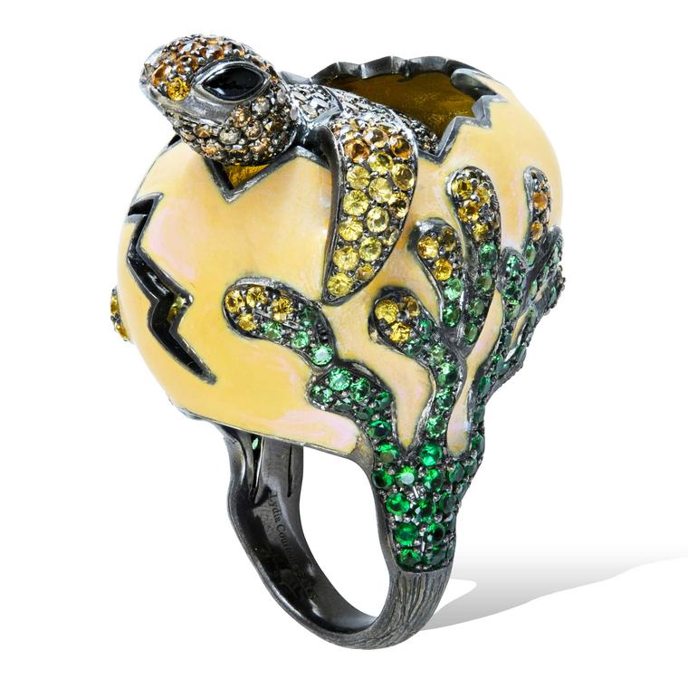 Lydia Courteille Procreation turtle hatching from egg ring