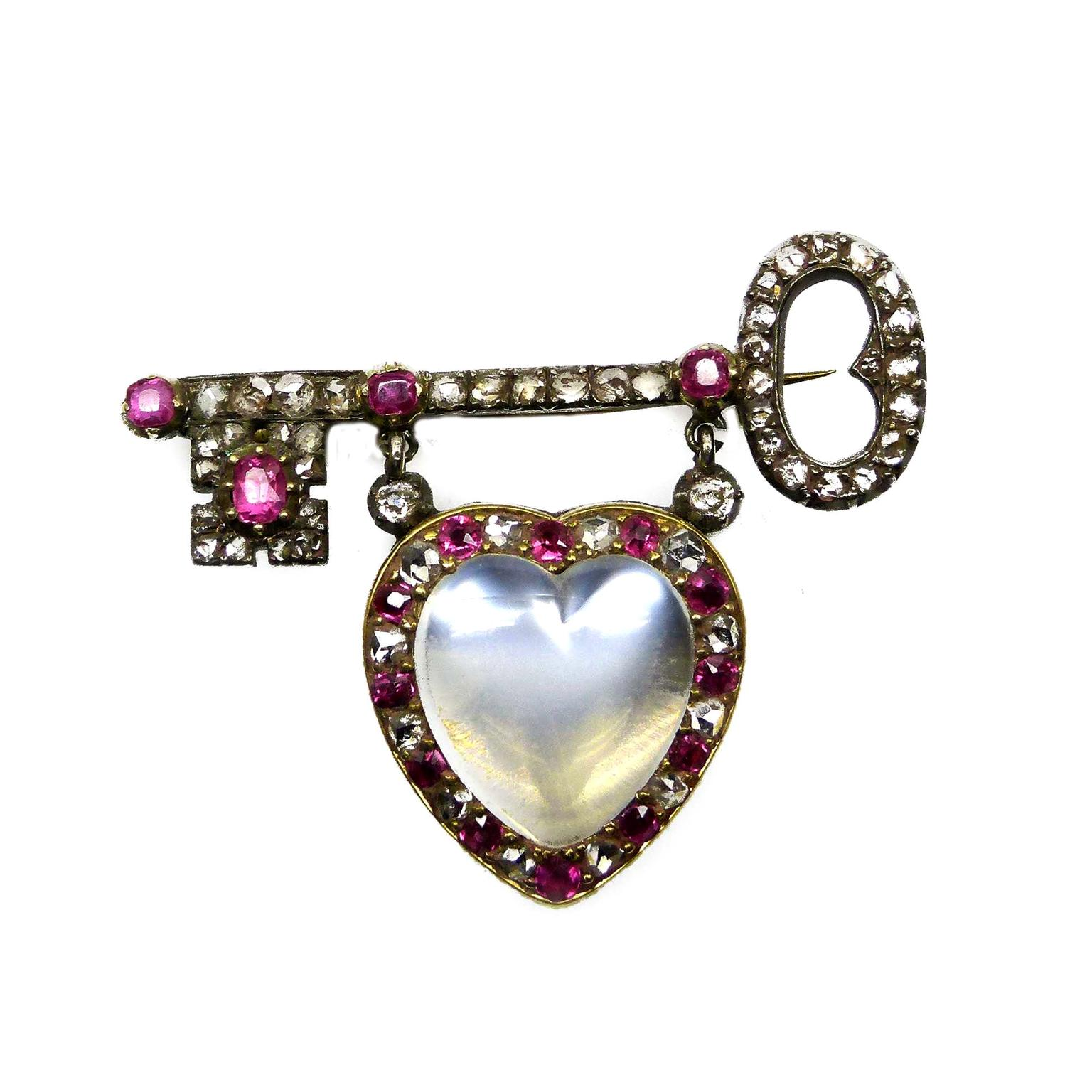 SJ Phillips Victorian key brooch