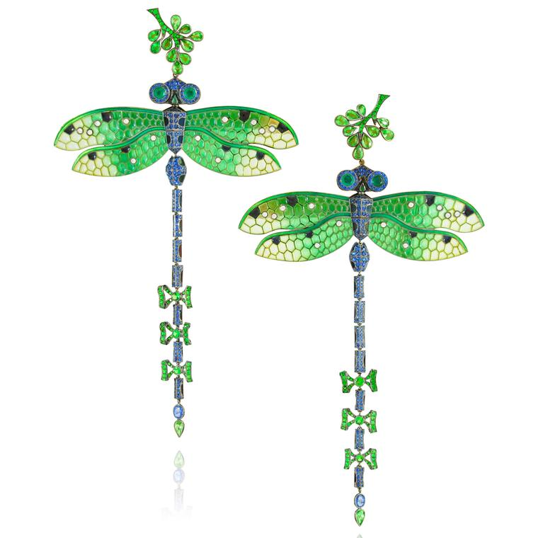 Lydia Courteille Dragonfly earrings